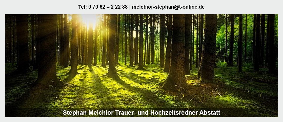 Trauerredner Abstatt - Stephan Melchior: Abschiedsfeier, Moderator
