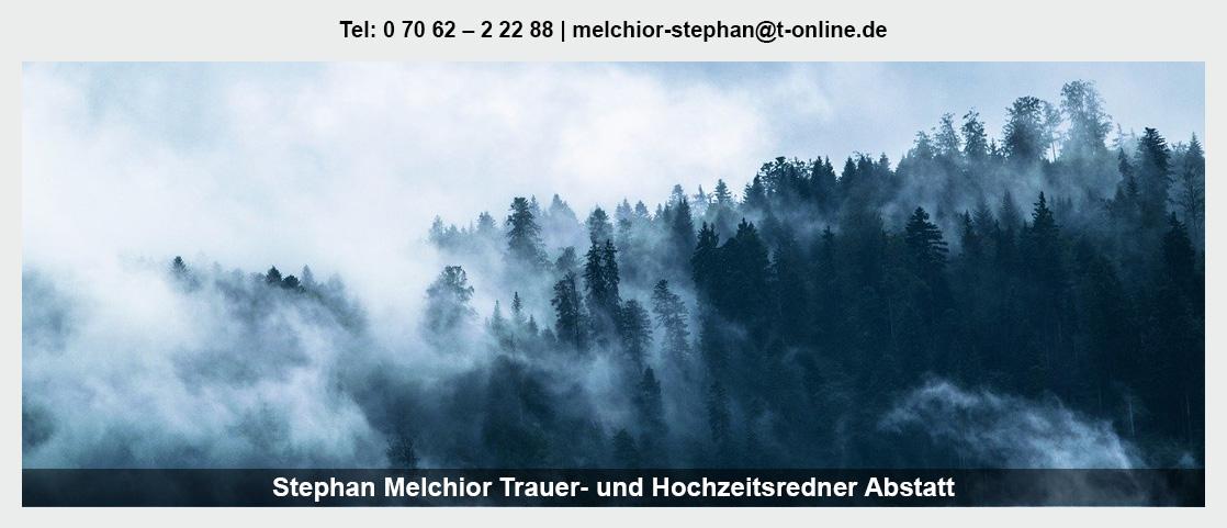 Trauerredner Heilbronn - Stephan Melchior: Abschiedsfeier, Hochzeitsredner